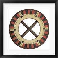 Framed Gambling Wheel - Red Black 1