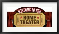 Framed Home Theater Marquee