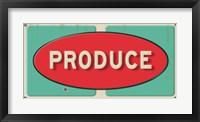 Framed Produce Embossed