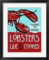 Framed Lobsters Live Cooked