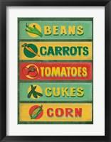 Framed Farm Stand Board - Veggies