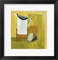 Jug and Lemon 1 Framed Print