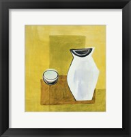 Jug and Lemon 2 Framed Print