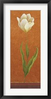 Contemporary White Floral I Framed Print