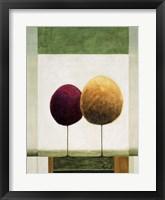 Lollipop Trees 2 Framed Print