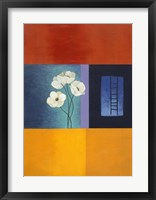 White Flower Abstract 1 Framed Print