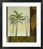 Green Palms II Framed Print
