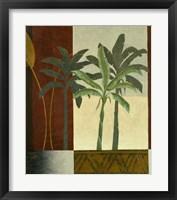 Green Palms I Framed Print