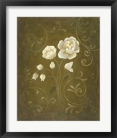 White Flower and Buds II Framed Print