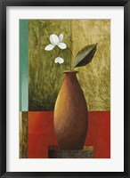 Gold Vase Floral I Framed Print