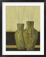 Green Vases I Framed Print