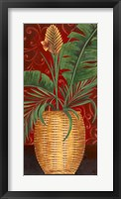 Basket With Orange Framed Print