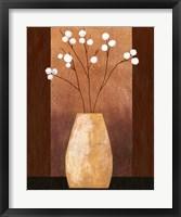 Framed Pot Floor Vase On Burgundy