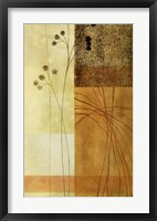 Brown, Orange Block Right Framed Print