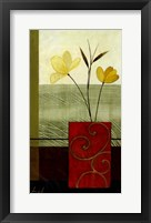 Yellow Blooms I Framed Print