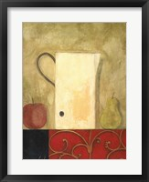 Jug and Fruit I Framed Print