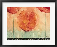 Poppy Field II Framed Print