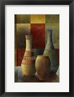 Earthenware Pots II Framed Print