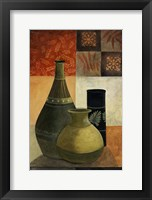 Earthenware Pots III Framed Print