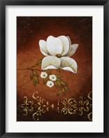 White on Red I Framed Print