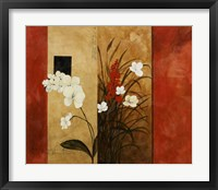 Framed Asian Floral I