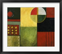 Abstract Fields II Framed Print
