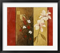 Framed Asian Floral II