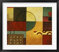 Abstract Fields I Framed Print