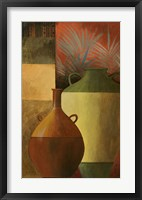 Storage Jars I Framed Print
