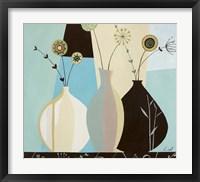 Vase Trio II Framed Print