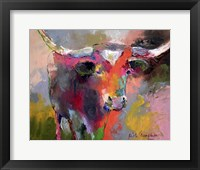 Framed Texas Longhorn
