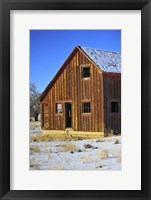 Framed Sunset Barn