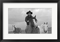 Framed My Cowboy Rides Bareback