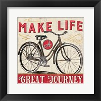 A Great Journey IV Framed Print