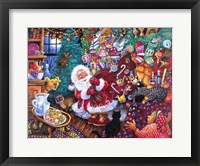 Framed Santa Arrives