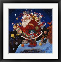 Framed Here Comes Santa Claus