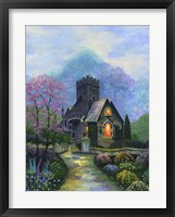 Framed Irish Church & Garden