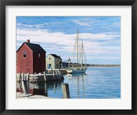 Framed Sail Boat Rockport