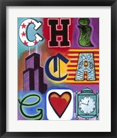 Framed Chicago Flag