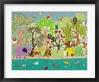 Framed Jungle Beasts