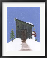 Barnwood Outhouse Framed Print