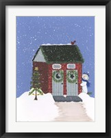 Brick Outhouse Framed Print