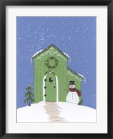 Light Green Outhouse Framed Print