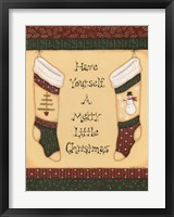 Christmas Quilts III Framed Print