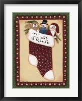 Stocking VI Faith Framed Print