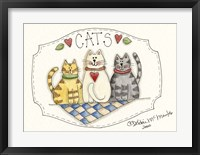 Framed Three Cats