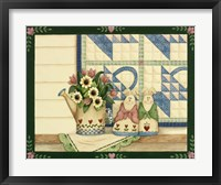 Framed Bunnies, Watering Can With Quils