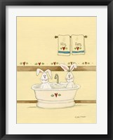 Framed His & Her Bunnies In Tub