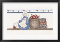 Apple Bunny Framed Print