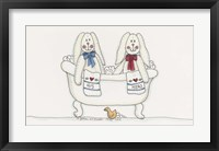Framed Bath Time Bunnies